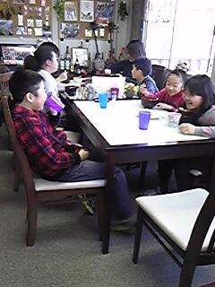 南三陸 サンシンズジュニあに 沖縄そば の ブランチタイム もちろん お母さんたちも 美味しく食べて 頂きました
